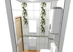Туалет плитка Плющ