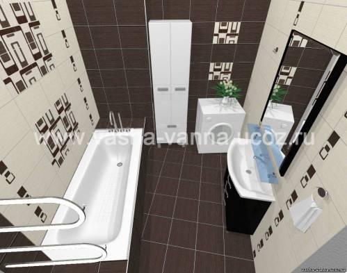 дизайн ванной комнаты 2.7 кв м фото